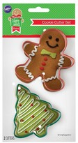 Wilton 2Pc Gingerbread Man and Tree Cookie Cutters