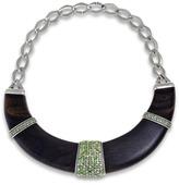 Luz Hissia ebony and peridot bib necklace
