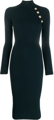 Balmain Knitted Midi Dress