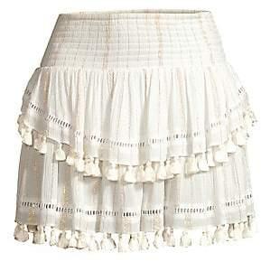 Ramy Brook Women's Morocco Pom-Pom Tiered Skirt