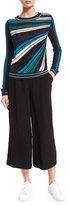 Diane von Furstenberg Joletta Metallic Striped Pullover