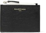 Balenciaga Ligne Creased-leather Cardholder - Black