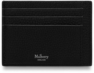 Mulberry Card Holder Black Natural Grain Leather