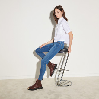 Sandro Cropped shirt with patch pockets