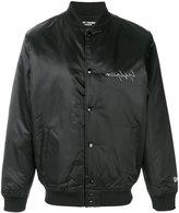 Yohji Yamamoto rear graphic bomber jacket