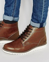 Pull&bear Boots In Leather With Contrast Sole