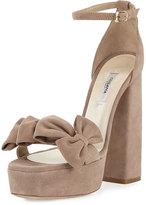 Olgana Paris Delicate Candice Suede Platform Sandal, Nude