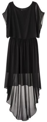labworks Women's Plus-Size Dolman-Sleeve Chiffon Maxi Dress - Black