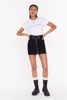 Nasty Gal Womens Oh Buck Off Denim Mini Skirt - black - 8