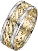 Celtic Love GOLD 9 Carat 2 Colour Gold Wedding Band 7mm