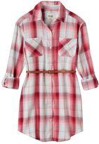 Mudd Girls 7-16 & Plus Size Button-Front Shirtdress