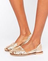 Boohoo Metallic Weave Sandal