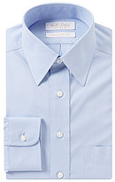 Roundtree & Yorke Gold Label Non-Iron Fitted Classic-Fit Point-Collar Solid Dress Shirt