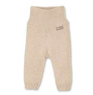 Sterntaler Knit Trousers with Rib Knit Waistband, Size: 3-6m, Beige, 5701970