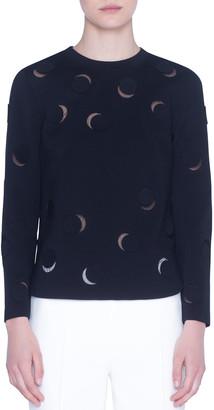 Akris Punto Tulle-Trim Luna-Cut Jersey Shirt