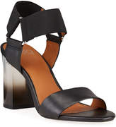 Franco Sarto Olivia Stretch Leather Sandals with Ombre Heel