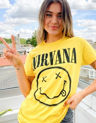 Daisy Street relaxed t-shirt with Nirvana print