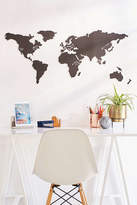 Urban Outfitters World Map Chalkboard Write-On Wall Decal Set