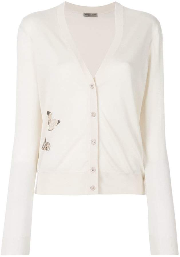 Bottega Veneta v-neck butterfly embellished cardigan