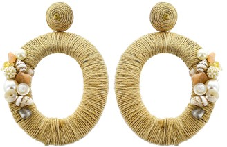 Panacea Oval Drop Earrings