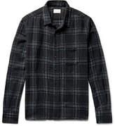 Simon Miller Checked Wool-gauze Shirt - Black