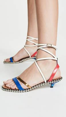 Marni Studded Kitten Heel Buckle Sandals