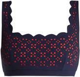 Marysia Swim Palm Springs scallop-edged bikini top