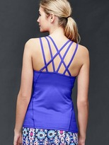 Gap GapFit interlace-back tank