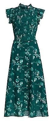 Sea Women's Monet Smocked Floral Maxi Dress - Size 0