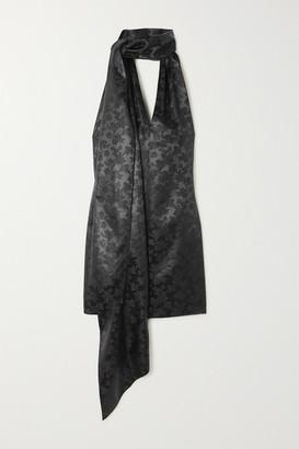 Givenchy Satin-jacquard Halterneck Mini Dress - Black
