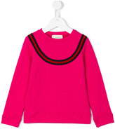 Gucci Kids - GG Web sweatshirt - kids - Cotton/viscose - 4 yrs