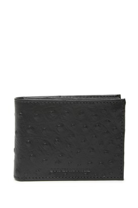 Dooney & Bourke Bifold Ostrich Embossed Leather Wallet