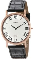 Titan Men's 1517WL01 Edge Analog Display Quartz Black Watch