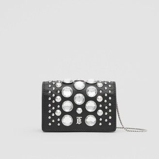 Burberry Embellished Card Case with Detachable Strap