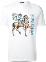Versace Greek horse print T-shirt - men - Cotton - M