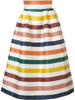 Carolina Herrera striped full skirt - women - Silk/Cotton - 8