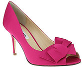 Nina Fraser Bow Peep-Toe Pumps