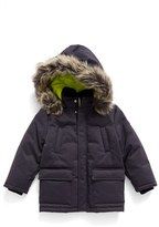 Armani Junior Boy's Faux Fir Trim Jacket