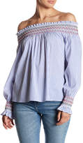Romeo & Juliet Couture Smocked Stripe Blouse