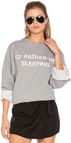 Private Party I'd Rather Be Sleeping Sweatshirt in Gray. - size S (also in XS)