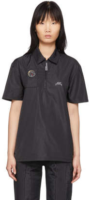 A-Cold-Wall* A Cold Wall* Black Compass Side Snap Polo