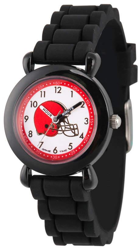 EWatchFactory Gametime Nfl Cleveland Browns Kids' Black Plastic Time Teacher Watch