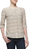 Equipment Lynn Silk Printed Long-Sleeve Blouse