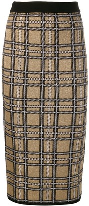 Antonio Marras checked fitted skirt
