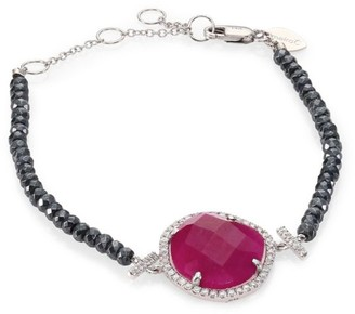 Meira T Diamond, Ruby, Silverite & 14K White Gold Bracelet
