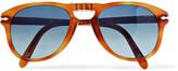 Persol Steve Mcqueen Folding D-frame Tortoiseshell Acetate Polarised Sunglasses, Size 52 - Tan