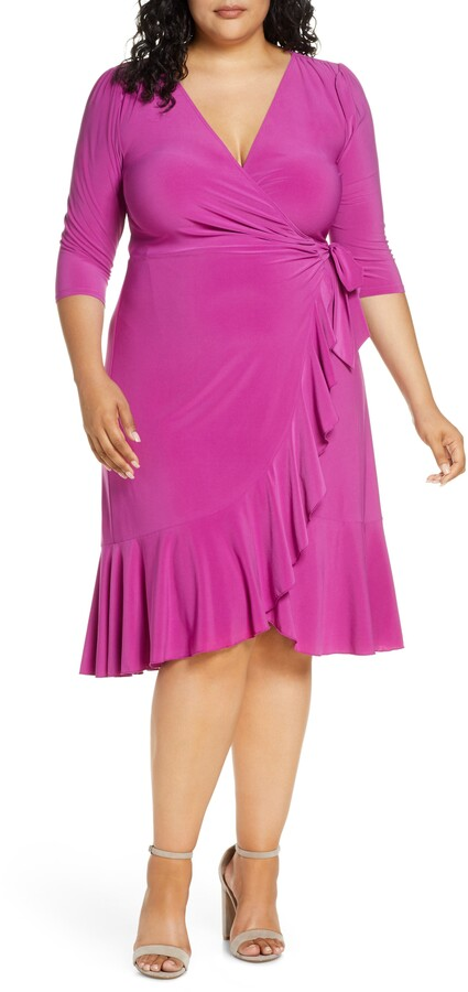 Kiyonna Whimsy Wrap Dress