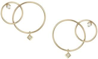Zoë Chicco Paris 14K Yellow Gold & Diamond Mixed Interlocking Circle Stud Earrings