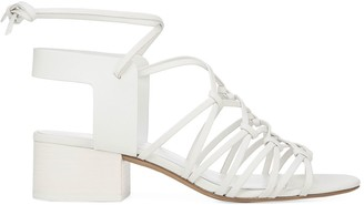 Vince Beamont Leather Strappy Ankle Wrap Sandals
