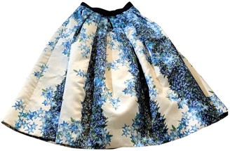 Tibi Ecru Silk Skirt for Women